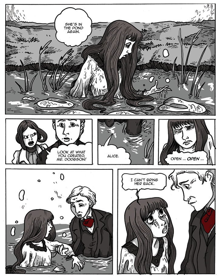 Alice in the pond
